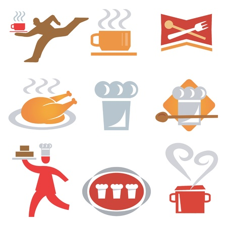 Set icons  of cooking