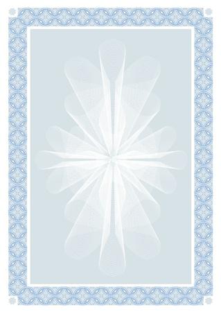 oorkonde: Abstracte achtergrond van toepassing voor certificaat of diploma. Vector illustratie. Stock Illustratie