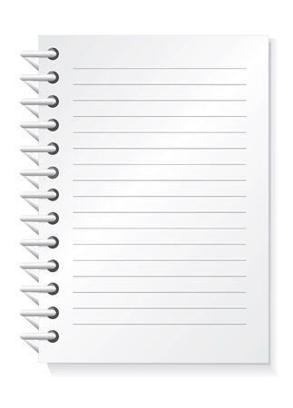 Vector illustration of notepad .