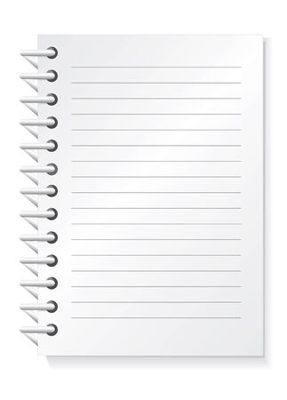 Vector illustration of notepad . Stock Vector - 12421940