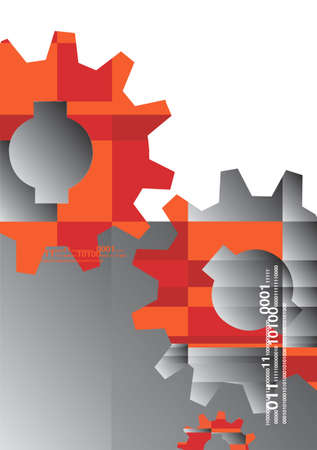cog gear: Industry background with gear wheels with place for text. Vector illustration. Illustration