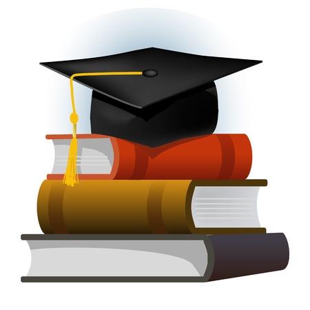 realizować: ooks z czapki absolwenta Ilustracja