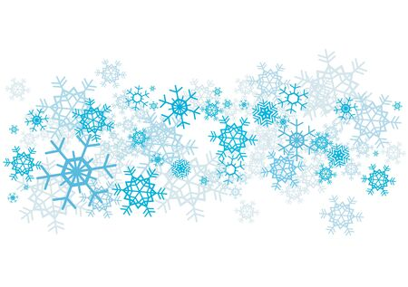 Blue snowflakes on the white background. vector illustration.