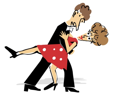 A couple dancing the tango. Vector