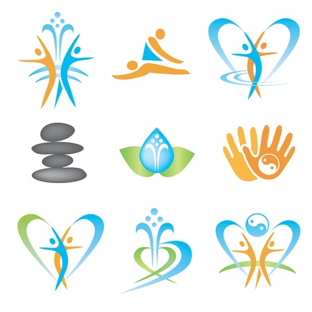health and fitness: Spa_massage_health_icons