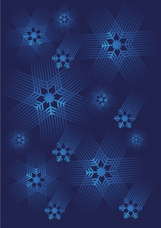 Blue decorative background with Snowflakes  Vector illustration  Illustration