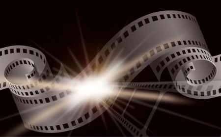 cinema film: Dark cinema film background with a camera film