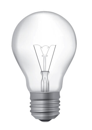 wasteful: Realistic detailed illustration of unlit light bulb