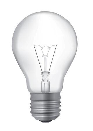 Realistic detailed illustration of unlit light bulb