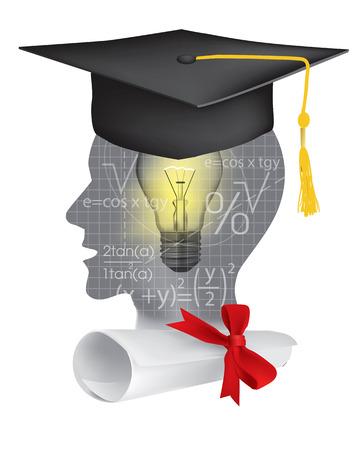 number icon: Symbol study of mathematics graduation