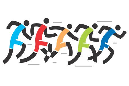 running race: Running race .A stylized illustration of runner race. Illustration
