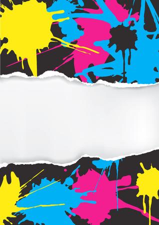 Papierhandschattenbild Mit Druckfarben Auf Die Finger. Konzept Für ...