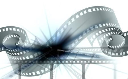 arts symbols: Movie film background. Cinematography bright background with a camera film.