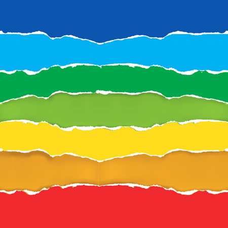 polygraph: Colorful torn paper background.  Torn paper background as a color swatch. Vector available.