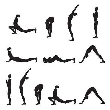 Yoga sun salutation.