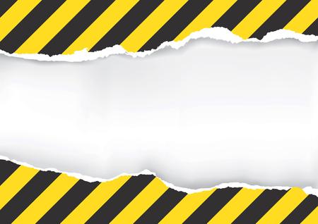Zerrissenes Papier mit Bau Zeichen. Illustration von zerrissenen Papier mit Bau Zeichen mit Platz für Ihr Bild oder Text. Vektorgrafik