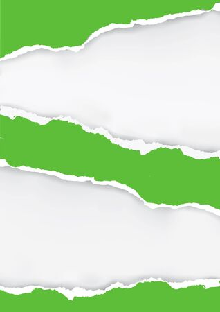 ripped paper: Green ripped paper background. Illustration of green ripped paper with place for your image or text. Illustration