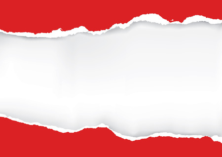 Red ripped paper. Illustration of red ripped paper with place for your image or text. Vector available.