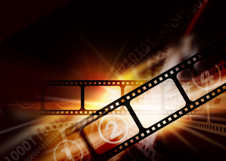 photography background: Cinema photography vintage background. Brown cinema dynamic vintage background with a camera film.