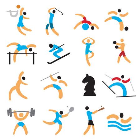 Satz einfache Sportikonen. Standard-Bild - 84014031