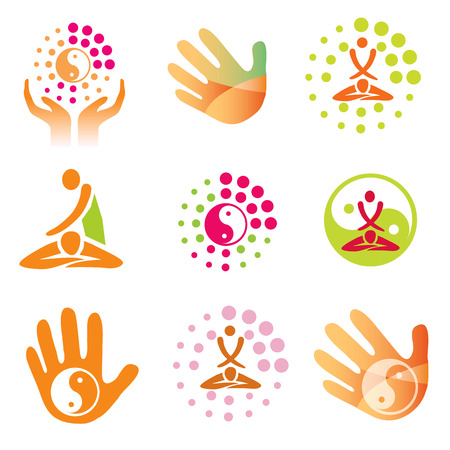 And  Icons massage health. Set of massage, wellness spa icons. Vector.Vector available.