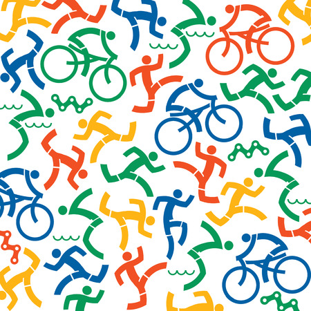Outdoor fitness icons background Vector available. Vettoriali