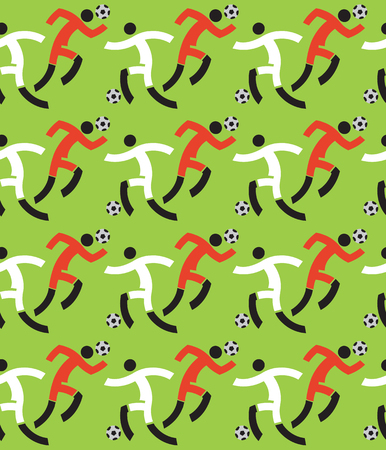 Soccer players decorative background,seamless pattern.  Illustration of Seamless pattern with Soccer players. Vector available.