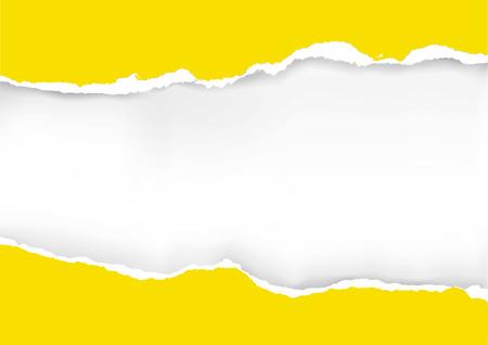 Fond de papier déchiré jaune. illustration de papier déchiré jaune avec place pour votre image ou texte. Vecteur disponible.
