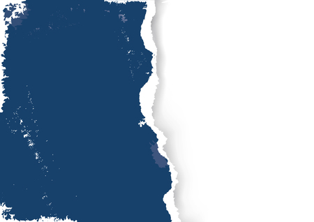 Blue Ripped paper grunge background.  llustration of blue ripped paper. Place for your image or text. Vector available.
