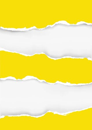 Yellow ripped paper background. Illustration of yellow ripped paper with place for your image or text. Vector available.