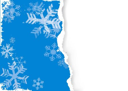 Christmas ripped paper. Torn paper background with place for your text or image. Vector available.