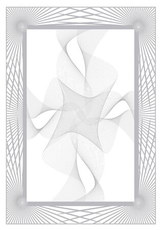 Gray Abstract background certificate. Illustration of gray background with wavy cross motif.Vector available. Иллюстрация