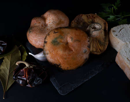 Still life with mushrooms of the variety