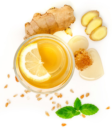 Ginger juice with lemon