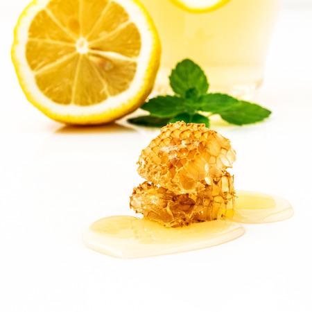 honey comb: Honey comb with lemon juice