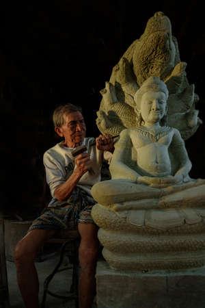 carver: Stone carver, Thailand