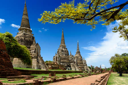 This is tourist area is name Wat Phra Si Sanphet in Ayutthaya,Thailand