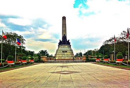 manila: Luneta park where the remains of Philippine national hero Dr.Jose Rizal lies