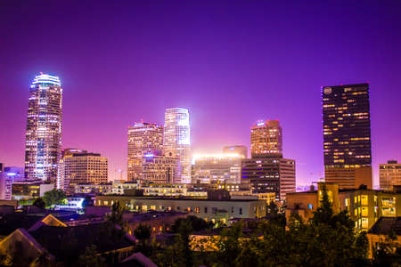Los Angeles City Downtown Skyline