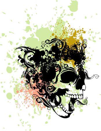 Punk skull illustration
