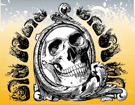Mystical skull illustration