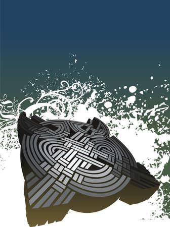 Celtic background illustration
