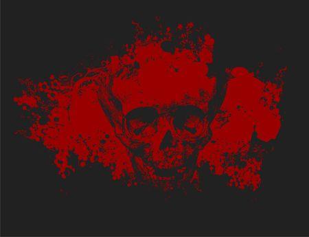 skull background: Zombie skull illustration