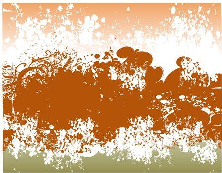 Floral grunge background illustration