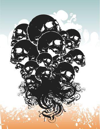 Skulls illustration Stock Photo