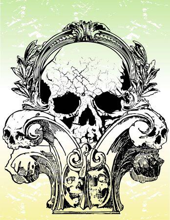 Gothic skull illustration
