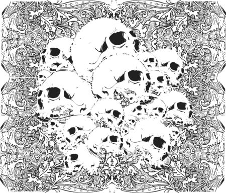 skulls pattern illustration