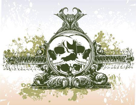skull portal illustration Stock Photo