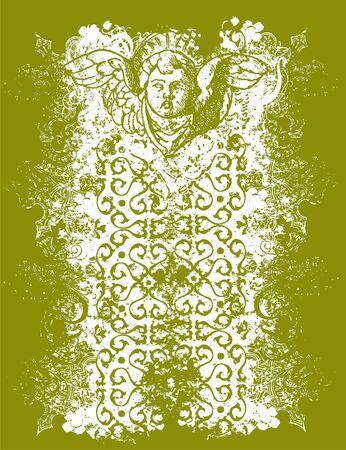 Cherub shrine illustration