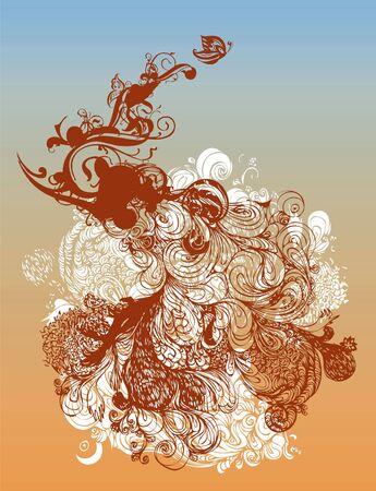 Stylized grunge illustration